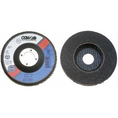 CGW Abrasives Flap Discs, Silicon Carbide, Regular - 4-1/2x5/8-11 sc-80 t27 reg silicon carbide flap