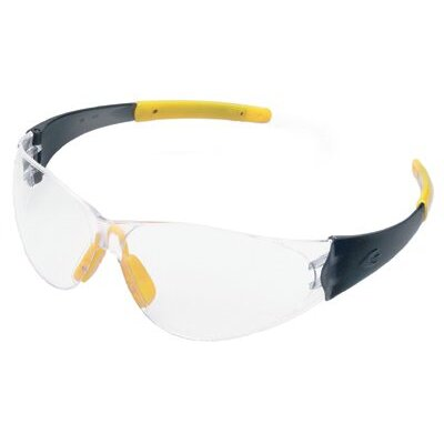 Crews CK2 Series Safety Glasses - checkmate safety glasses smoke temple clear lens