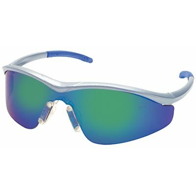 Crews Triwear® Protective Eyewear - triwear blue diamond frame safety glasses silver