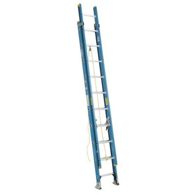 Werner 24' Fiberglass Extension Ladder D6024-2