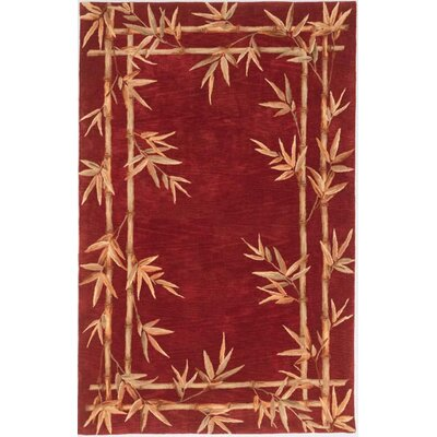 Sparta Red Bamboo Border Rug