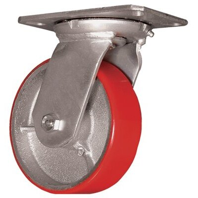 "EZ Roll Medium Heavy Duty Casters - 4"" whl. dia. rigid caster moldon polyure. 700lb"