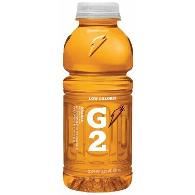 Gatorade Gatorade - Gatorade G2 20 Oz. Wide Mouth 20 Oz G2 Orange Wide Mouth Bottles: 308-20407 - 20 oz g2 orange wide mouth bottles