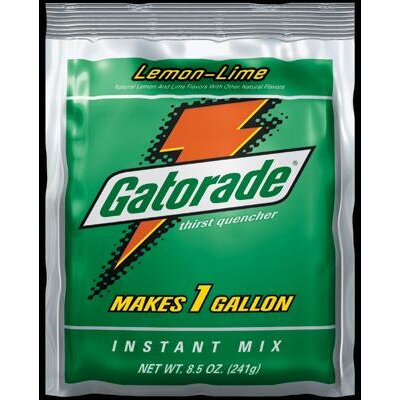 Gatorade Ounce Instant Powder Package Lemon-Lime - Yields 1 Liquid Gallon