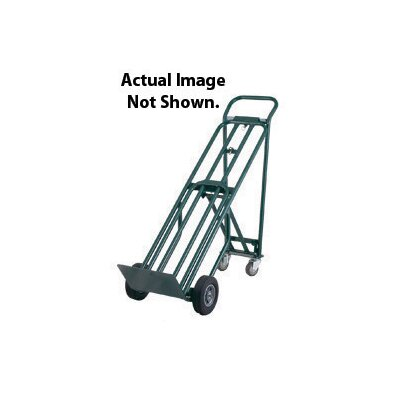 "Harper Trucks DCT Series Multi-Purpose 3 Position Convertible Platform/Hand Truck W/8"" Offset Poly Solid Rubber Wheels & 3"" Mold-On Urethane Swivel Casters"