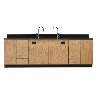 Diversified Woodcrafts Wall Service Bench With Door & 4 Drawers