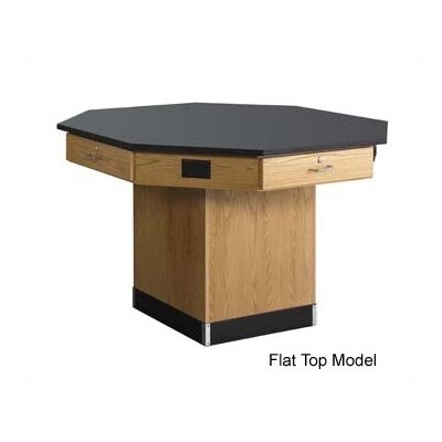 "Diversified Woodcrafts 54"" Wide Pedestal Base Octagon Workstation"