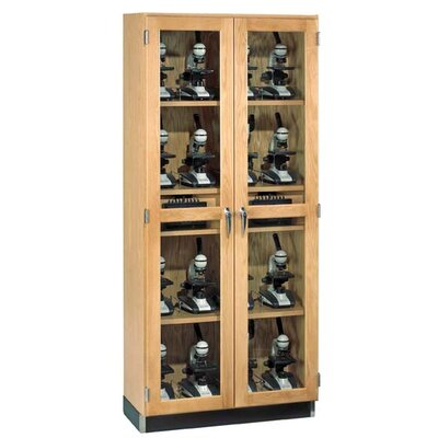 Diversified Woodcrafts Micro-Charger Glass Door Cabinet