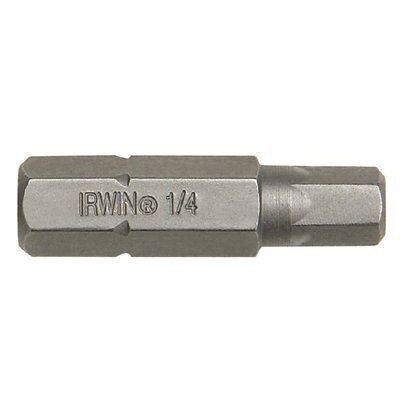 Irwin Socket Head Insert Bits - Fractional - 1/4in socket head insertbit shank diameter 5/16