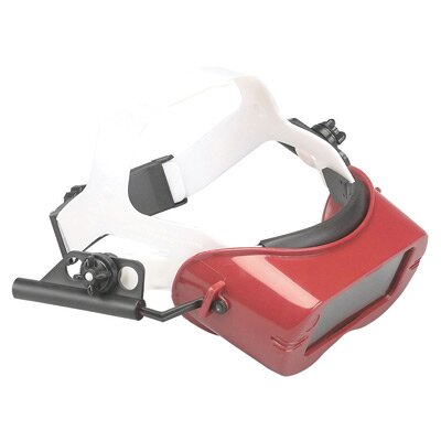 Jackson Cutting Goggles With Red Shallow Rigid Frame And Shade 5 Green Lens Mounted to 170-G Adjust-O-Lok Headgear (12 Per Box)