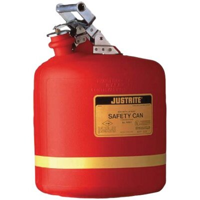 Justrite Nonmetallic Type l Safety Cans for Flammables - 21/2gal saf can