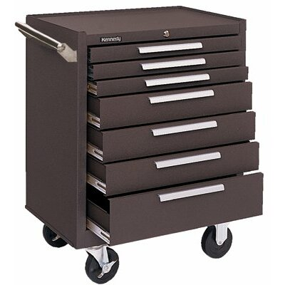 Kennedy Industrial Series Roller Cabinets - 00063 roller cabinet 7 drawer brown