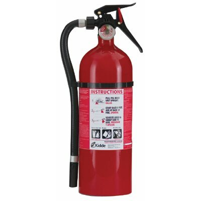Kidde Excel Line™ Multi-Purpose Dry Chemical Fire Extinguishers - ABC Type - service lite line 5lb with wall hanger