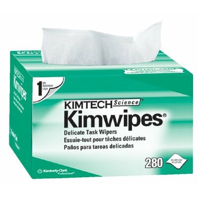 "Kimberly-Clark Kimtech Science® Kimwipes® Delicate Task Wipers - 4.5""x8.5"" white kimwipesex-l 1-ply 280/b"