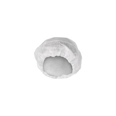 "Kimberly-Clark White KleenGuard™ A10 KOMFORTGUARD® Light Duty 24"" Pleated Latex Free Bouffant Cap (Bulk Packaging, 100 Per Package, 10 Packages Per Case)"