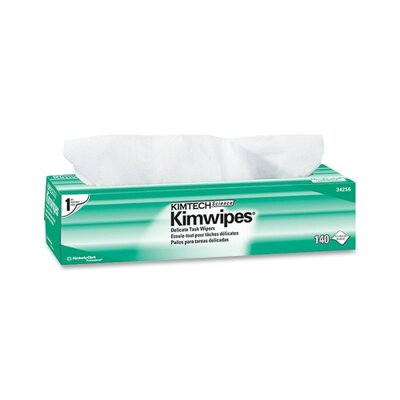 "Kimberly-Clark Task Wipes, 14-7/10""x16-3/5"", 140 per Box, White"