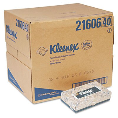 Kimberly-Clark Professional* Kleenex Facial Tissue, 125 Sheets, 48/Carton