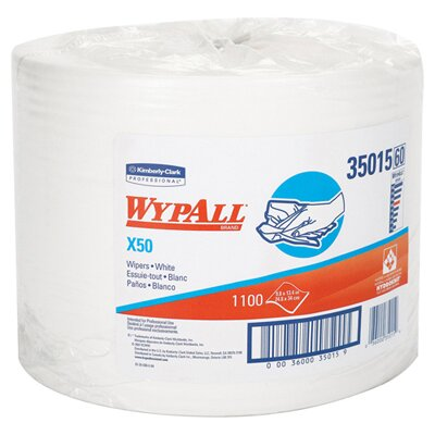Kimberly-Clark Wypall X50 Wipers Jumbo Roll Perforated in White