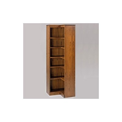 Hale Bookcases 200 Signature Series 72&quot; H Six Shelf Inside Corner Bookcase