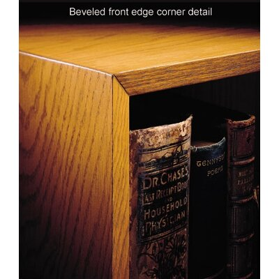 "Hale Bookcases 1100 NY Series 30"" H Two Shelf Outside Quarter Round Bookcase"