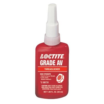 Loctite Corporation 087™ Threadlocker, Grade AV - 50ml grade av threadlocking adhesive/sealant