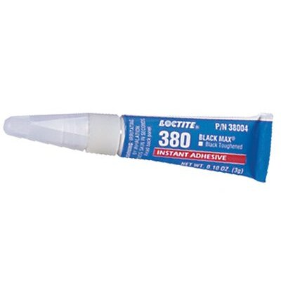 Loctite Corporation 380™ Black Max® Instant Adhesive, Toughened - 3-gm black max 380toughened ins. adhesive(10 tubes/case)
