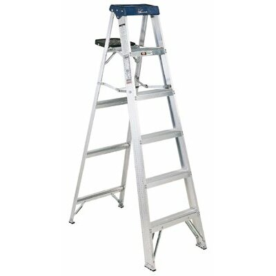 Louisville Ladder AS3000 Series Sentry Aluminum Step Ladders - 4' aluminum sentry stepladder