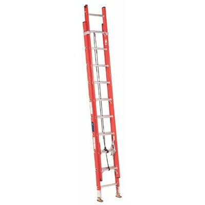 Louisville Ladder FE3200 Series Fiberglass Channel Extension Ladders - 20' fiberglass extensionladder d-rung