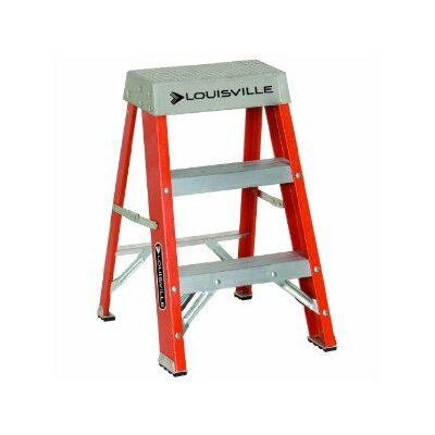 Louisville Ladder FS1500 Series Fiberglass Step Ladders - 2' advent folding step ladder type ia