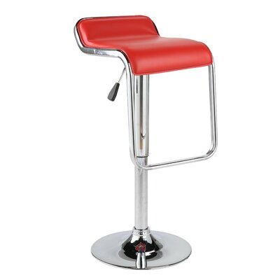 Eurostyle Furgus Adjustable Bar Stool in Red