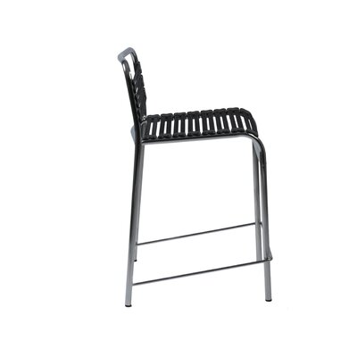 Eurostyle Bungie-C Flat Counter Stool in Black