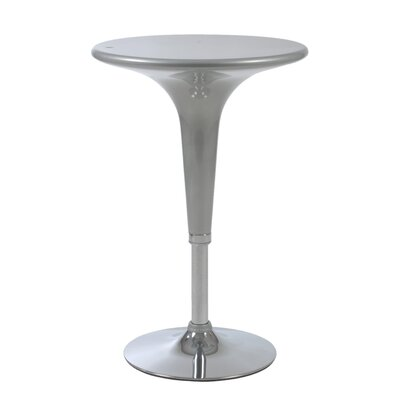 Eurostyle Clyde Adjustable Bar Table in Silver