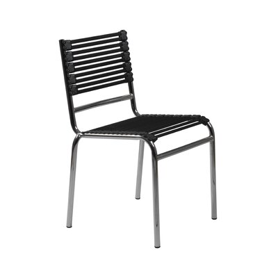 Eurostyle Bungie-S Flat Stacking Chair in Black