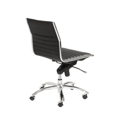 Eurostyle Dirk Low-Back Leatherette Office Chair