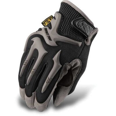 Mechanix Wear Large Black Pro-Fit™ Series 3 Impact Protection Gloves With Non-Slip Dual Layered Zeus Clarino® Panel And On-Off Pull-Tab