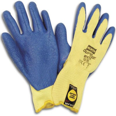 North Safety Size 8 Medium Rubber Coated Work Gloves With Kevlar® Lining