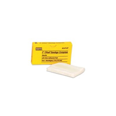 North Safety Bandage Compress (2 Per Box)
