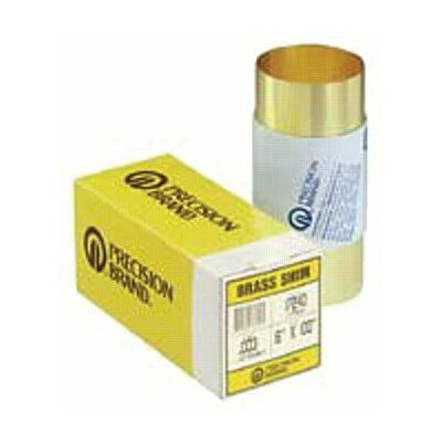 Precision Brand Brass Shim Stock Rolls - 17sx20 6&quot;x60&quot; .020 brassshim