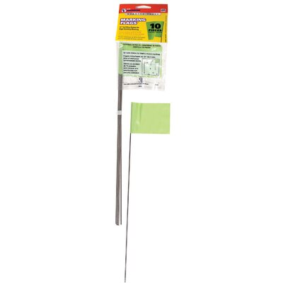 10 Pack Lime Marking Flags 15067