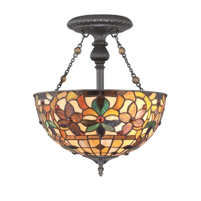 Quoizel Kami 2 Light Semi Flush Mount