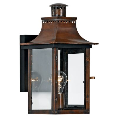 Quoizel Chalmers Outdoor Wall Lantern in Aged Copper