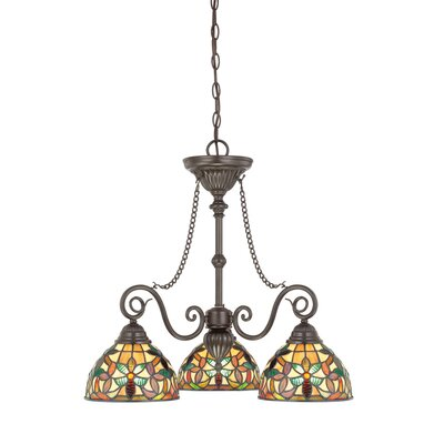 Quoizel Kami Three Light Chandelier in Vintage Bronze