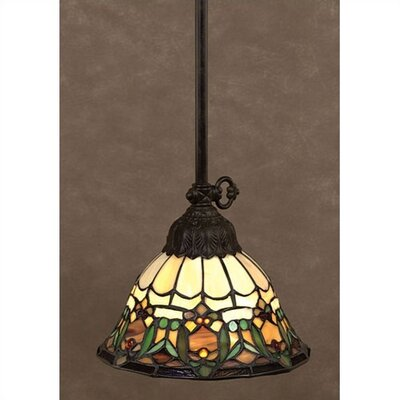 Delacroix 1 Light Tiffany Piccolo Pendant