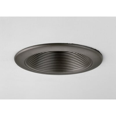 "Progress Lighting 4"" Incandescent Step Baffle Recessed Light Trim"