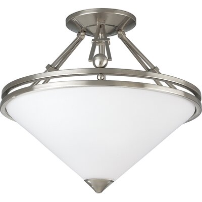 Progress Lighting Metro Brushed Nickel Semi Flush Mount