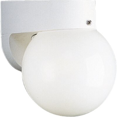 Progress Lighting White 6&quot; Acrylic Globe Outdoor Wall Lantern