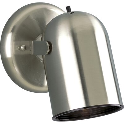 Progress Lighting 50W  Round Back Directional Wall Sconce  in Brushed Nickel