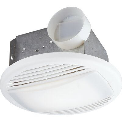 Progress Lighting Bath Exhaust Ceiling Fan with Light for Rooms Up to 65'