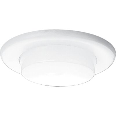 "Progress Lighting 6"" Drop Opal Shower Light with Reflector Trim"