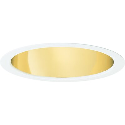 "Progress Lighting 8"" Wall Washer Recessed Trim in Gold Alzak"